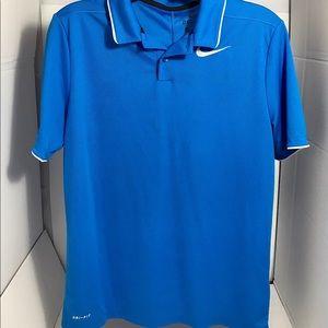 🌟Men's Nike Dri-FIT Blue Golf Polo